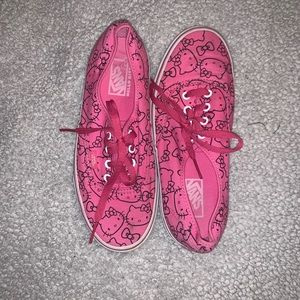 Hello Kitty lace up Vans